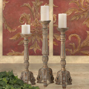 Tuscan Candle Holders, European Style Candle Holders