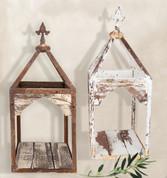 Farmhouse Lantern, Wood and Iron Lantern