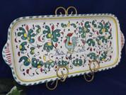 Deruta Orvieto Gallo Rooster Serving Tray, Deruta Serving Platter