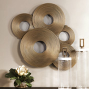 Golden Metal Wall Decor, Tuscan Wall Decor