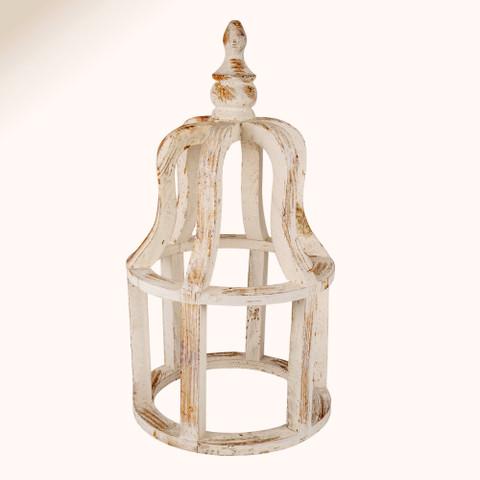 Crown Farmhouse Wood Lantern