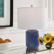 Cobalt Blue Lucia Ceramic Lamp