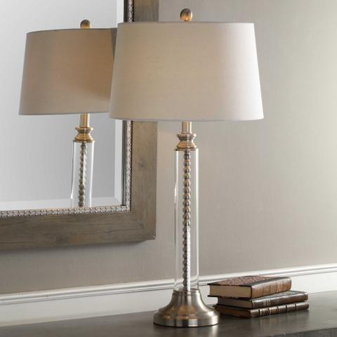 Brushed Nickel Beaded Marabella Lamp