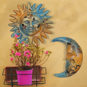 Clay Sun and Moon, Tuscan Sun and Moon Wall Decor