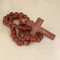Farmhouse Clay Rosary Beads, Rustic Rosary Beads