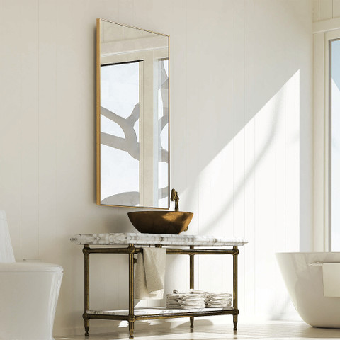 Sofia Rectangular Mirror Gold