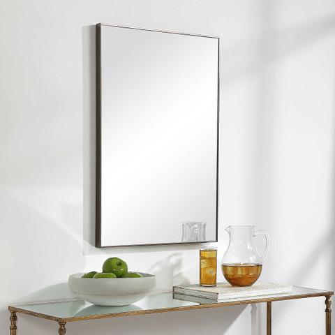 Sofia Rectangular Mirror Gunmetal
