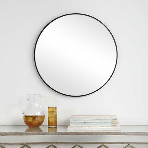 Sofia Round Mirror Black