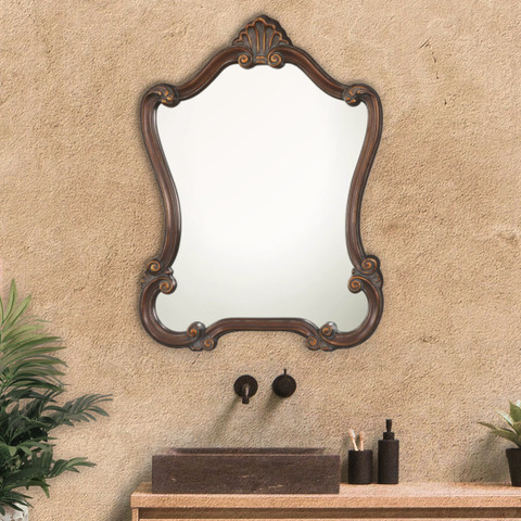 Cameo Scroll Mirror