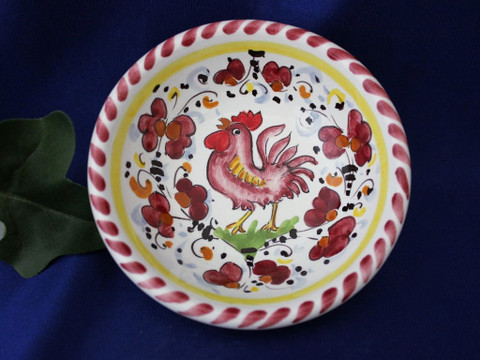 Orvieto Olive Oil Dipping Bowl, Gallo Rooster Bowl
