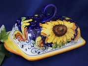 Tuscan Sunflower Butter Dish