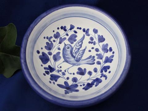 Deruta Arabesco Olive Oil Dip Bowl