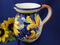 Italian Ceramic Pitcher, Tuscan Sunflower Pitcher