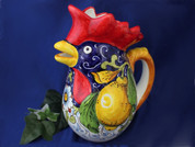 Italian Rooster Pitcher, Tuscan Lemons Rooster Pitcher