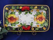 Tuscan Poppies Fruit Serving Platter