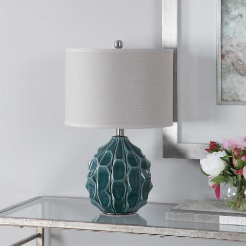 Olive Gray Catania Ceramic Lamp
