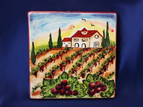 Italian Ceramic Wall Tile,  Italian First Stone, Tuscany Landscape Tile