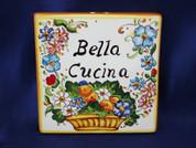 Italian Wall Tile, Italian Proverb Tile, Bella Cucina, Beautiful Kitchen