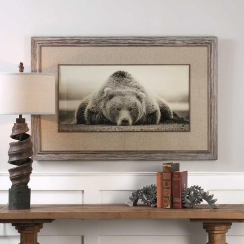 Deep Sleep Framed Print, Deep Sleep Bear