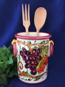 Italian Grapes Utensil Holder Wine Cooler