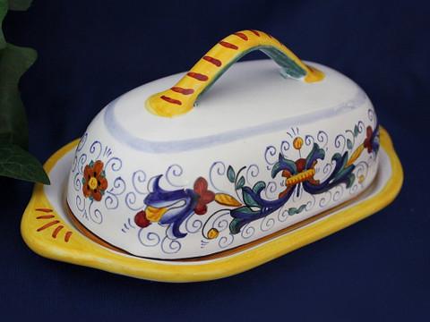 Deruta Ricco Butter Dish, Deruta Butter Dish
