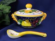 Tuscan Lemons Grapes Sugar Bowl Cheese Bowl