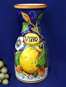 Italian Ceramic Wine Carafe