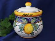 Deruta Lemon Garlic Onion Jar