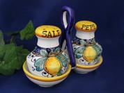 Deruta Lemon Salt & Pepper Set