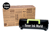TIW Lexmark 501U, 50F1U00 Replacement Black Toner Cartridge for Lexmark MS610dn, Ms510, MS510dn, Ms610, MS610de, Ms610dn, MS610dtn Printers High Yield 20,000 Pages Printing, Home or Commercial Use