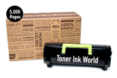 TIW Lexmark 501H, 50F1H00 Replacement Black Toner Cartridge for MS310, MS312, MS315, MS410, MS415, MS510, MS610 Printers High Yield 5,000 Pages Home or Commercial Use