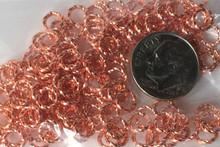 144 Fancy Twisted Copper Plated Brass 6mm Jump Rings~16 Gauge