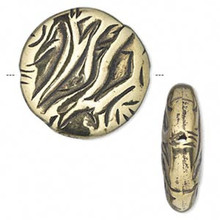 50 Grams Antiqued Gold Metalized Plastic 26mm Round Coin Beads *