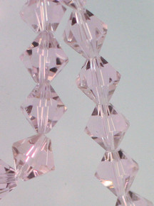 1 Strand Pink Rose Acrylic Cosmic Crystal 10x10mm Bicone Beads *