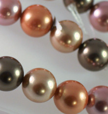 1 Strand Gorgeous Multi Colors 16mm Round Shell Pearl Beads *