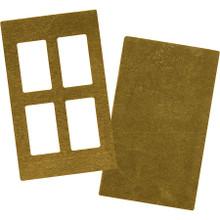 5 Sets Raw Brass Rectangular Paned Window Blanks
