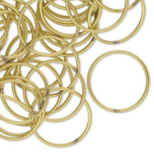 100  Gold Brass 18mm Soldered Closed Round 20 Gauge Jump Rings