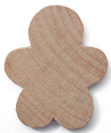 "10 Hardwood 1 5/8"" Tall Gingerbread Boy Cutouts"