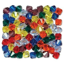 42 Preciosa Czech Crystal 3mm Rondelle Bicone Bead RAINBOW Mix