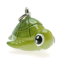 2 Adorable 3 Dimensional Resin Hand Painted Hona TURTLE Charms