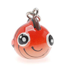 2 Adorable 3 Dimensional Resin Hand Painted Orange Puffy Fish Charms