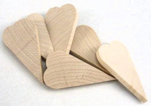 """100 Long 2-3/4"""" Tall x 1-3/8"""" Wide Primitive Wooden Hearts  Altered Art"""