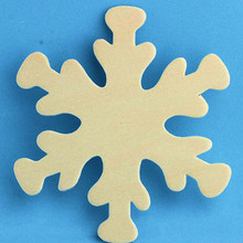 "12  Wooden 4"" Snowflake Paintable Cutouts Woodlets *"