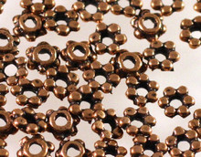 1/4 OZ Antiqued Copper Plated Pewter 4.5x1.5mm Rondelle Beads *