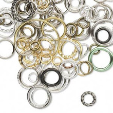 10 Gram JumpRing Assortment Jump Rings ~ 2-18mm Round & Oval Mix