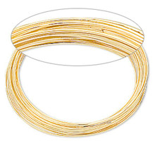 """1oz Package Gold Plated Stainless Steel Memory Wire 2 1/4"""" Round Bracelets"""