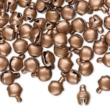 100 Steel Matte Copper Color 6mm Jingle Bells