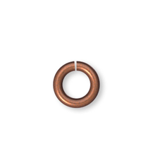 100 Antiqued Copper Plated Brass 5mm Round 19 Gauge Jumprings