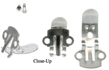 100 Steel Shoe Clips  ~ 18x14x3mm ~ Use like Clip-on Earrings But for Shoes