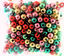 310 Bright Jewel Colors Metalized Acrylic 8mm Round Bead Mix *